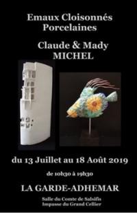Exposition d'émaux cloisonnés et porcelaines de Mady et Claude Michel