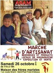 Vente d'artisanat et broderies malgaches -ASAM