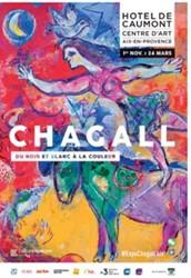 """Chagall  """" du noir et blanc à la couleur"""" - Hotel de Caumont"""